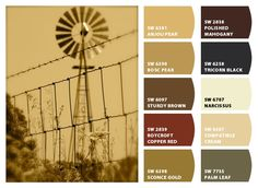 Windmill Farm Life Color Palette Inspiration Chip It! by Sherwin-Williams – ChipCard by Christy C. color palettes, farm life