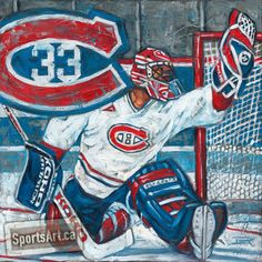 """""""Saint Patrick"""" - Hall of Fame goalie Patrick Roy has won Stanley Cups and had his number #33 retired with the Avalanche and les Canadiens."""