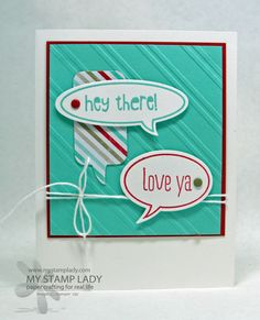 Love Ya Speech by cmstamps - Cards and Paper Crafts at Splitcoaststampers