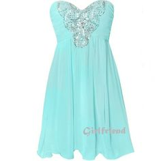 Sweetheart ice-green chiffon prom dress / bridesmaid dress