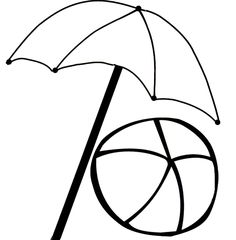 Beach Chair Coloring Page Umbrella Pages