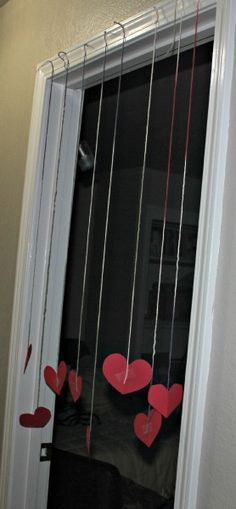 Surprise the kids on the morning of Valentine's Day with Hanging Hearts in their doorway