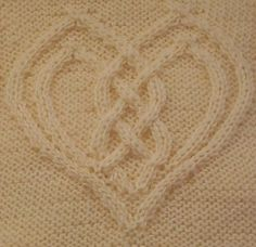 Ravelry: Cabled Heart pattern by Devorgilla's Knitting (sometimes...)