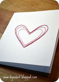 Templets for hand stitched cards