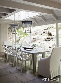 love the natural lighting, the lanterns and THAT VIEW!!!