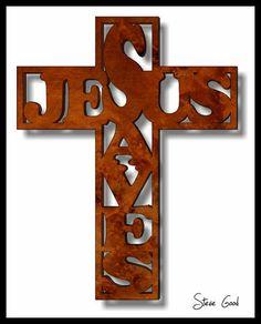 free printable scroll saw patterns | Scrollsaw Workshop: Jesus Saves Cross Scroll Saw Pattern.