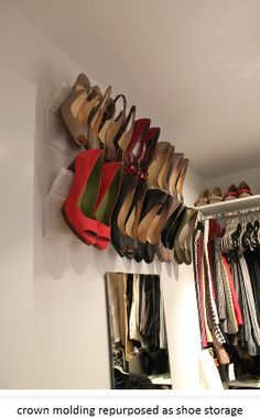 use crown molding for shoes