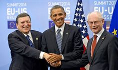 President #Obama with uropean Commission President José Manuel #Barroso and European Council President Herman van Rompuy.