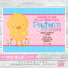 Chick Personalized Party Invitation-