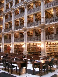 Visit to the George Peabody Library, Baltimore, Maryland, USA.