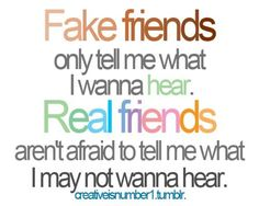 Fake v. Real Friends