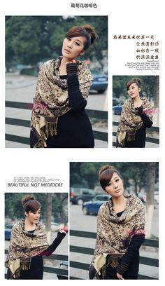 coffee elegant lady bohemian long scarf