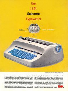 IBM electric typewriter...learned to type on this in summer school in 1978!