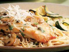 dinner, pasta recip, chicken breasts, chicken piccata, olive oils, mushroom recipes, food, eat well, healthy chicken