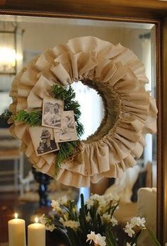 DIY Burlap Wreath via The Inspired Room #Christmas