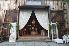 Pretty barn wedding
