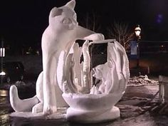Amazing Snow Sculptures