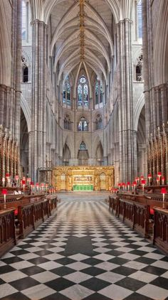 The Quire at Westminster Abbey. London, England
