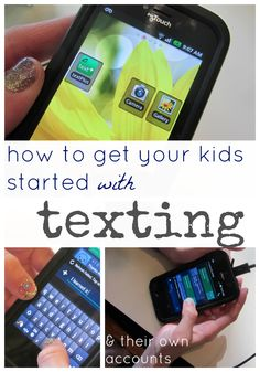 how to get your kids started with texting: texting 101 | how OUR family got our kids up and running with texing