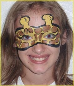 paint ideas, giraff face, giraff mask, face paintings, giraffe face paint, facepaint, paints, safari face painting, giraffes