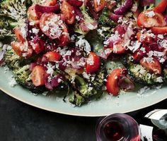 Charred Broccoli and Red Onion Salad   KitchenDaily.com