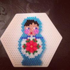 Matryoshka hama mini perler by lyn_brat