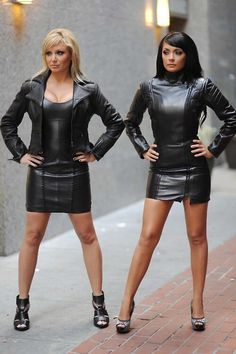 Gorgeous leather dresses.