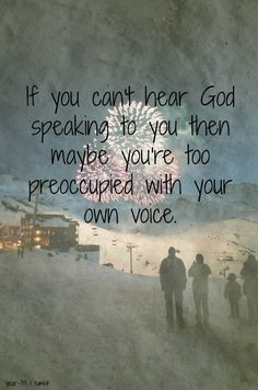 Listen to the voice of Our Father