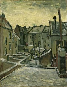 Vincent van Gogh, Houses Seen from the Back