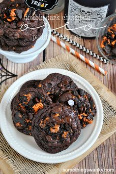Double Dark Chocolate Oreo Pudding Cookies