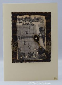 Handmade Card - Vintage Tennis £2.50