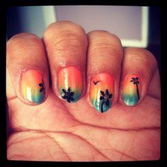 Hawaiian nails!!