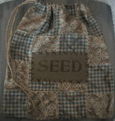 Our Pioneer Homestead: primitive crafts - I love this prim bag but I will use mine to store clothespins