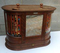 Merrick's Oak Double Spool Cabinet | eBay