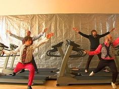 Treadmill walking? Pshaw, try OK Go's treadmill dancing routine.