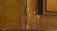 walnut, wood cabinet