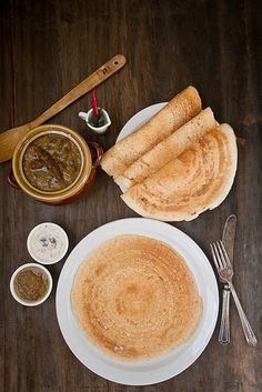 Dosa (South Indian rice crepes) by IndianSimmer, via Flickr