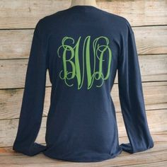 Monogram Long Sleeve T-Shirt - Love the XL Monogram on the back!