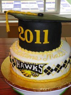 High School Graduation Cakes | Plumeria Cake Studio: El Dorado High School Graduation Cake