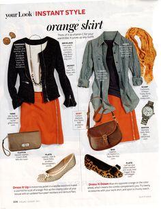 love the orange skirt
