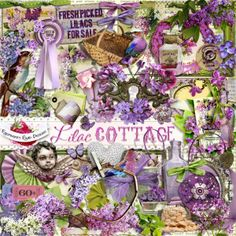 A beautiful lilac themed scrapbook kit from Raspberry Road Designs.