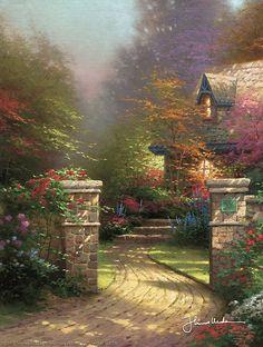 Thomas Kinkade - Rose Gate  1995