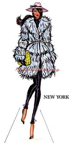 hayden williams fashion illustration sketch drawing new york fashion week