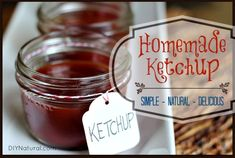 Homemade Ketchup - A Delicious and Simple Recipe: Making delicious homemade ketchup is easier than you might think. Here's a recipe that is simple and natural, yet very, very delicious. We dare you to try it!