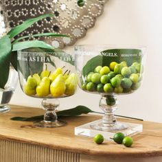What a great gift, Biblical etched footed bowls from Wisteria