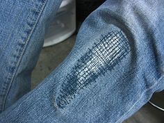 Great Idea for Patching up Jeans - so cute!