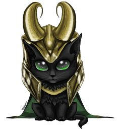 Loki Kitten by ~lilnaugrim on deviantART