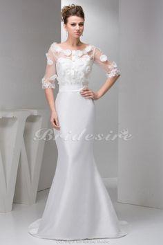 wedding dressses, button flowers, satin, weddings, dress wedding, purple prom dresses, train, gown, reception dresses