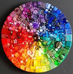 modern gardens, clock, floor design, color wheels, buttons, kitchen sinks, modern garden design, mosaic, rainbow