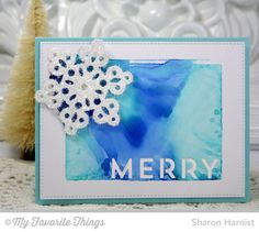 Christmas Tree Cutout Die-namics, Pierced Snowflakes Die-namics, Stitched Rectangle STAX Die-namics - Sharon Harnist #mftstamps